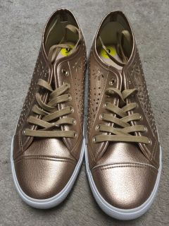 New Restricted Size 9 Gold Sneakers