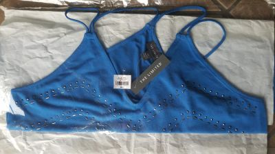 NWT The Limited Strap V-Neck Heat Seal Tank - M