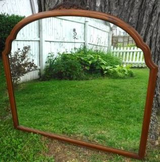 Antique Wood Frame Hanging Wall Mirror