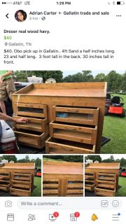 $40 large dresser pick up in Gallatin real wood heavy.
