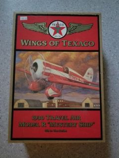 Wings of Texaco - 1930 Travel Air Model Mystery Ship Airplane Bank - 5th in series