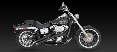 Buy Vance & Hines Sideshots Black Exhaust 06 07 08 09 10 11 Harley Davidson Dyna motorcycle in Ashton, Illinois, US, for US $656.96