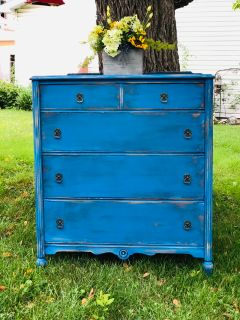 Restyled Antique Ornate Tallboy~