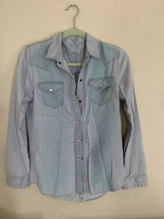 Jean style button up shirt