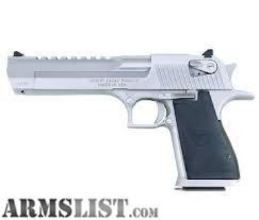 For Sale: NEW Desert Eagle Mark XIX Pistol, .50 AE, Brushed Chrome