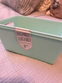 NWT 2 pack storage container. Approx 4.25x6 . $2