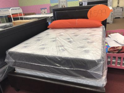 Brand New Queen Mattress and bed frames come in box