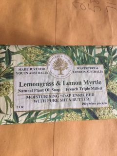 Lemongrass and lemon myrtle natural soap made in Australia full size bar heavy Smells awesome