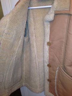 Warm Leather Jacket with wool Lining