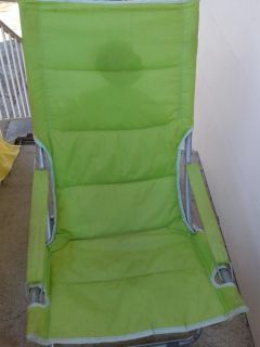 Lime green indoor outdoor lawn chair