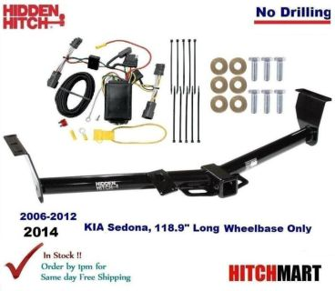 """Sell Trailer Hitch & Wiring for 06-12, 2014 KIA Sedona 118.9"""" Long Wheel Class 3 2"""" motorcycle in Rockford, Illinois, US, for US $208.78"""