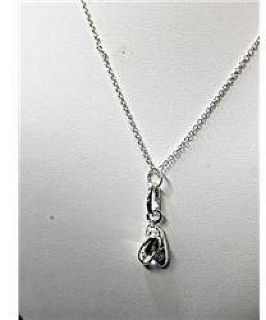 $50 Classy Ladies 18k White Gold Necklace with Ballet Shoes Pendant JA4032