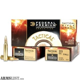 For Sale: Federal 223 55gr gameking ammo