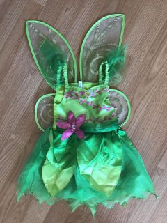 Toddler size Tinkerbell Costume dress and wings
