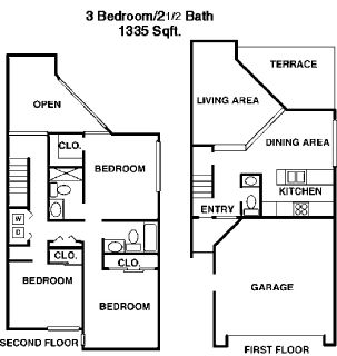 BEATUIFUL 3-2 TOWN HOME* Attached Garages**LARGE DOGS OKAY*LOW DEPOSIT!!!
