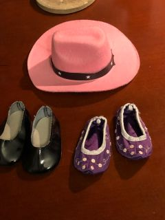 American girl doll shoes will fit 18 inch