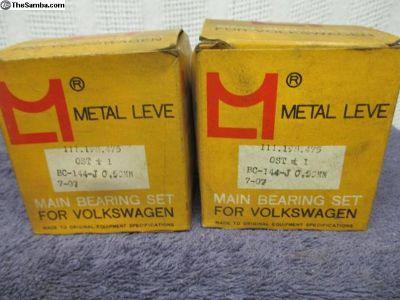 NOS Metal Leve Main Bearing Set .020 .020 .040T