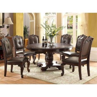 Round dining table 6 chairs