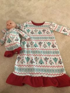 Pjs and matching doll 3T
