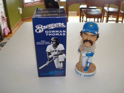 Authentic 2004 GORMAN THOMAS Milwaukee Brewers Bobble Head New in Box