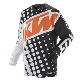 Purchase NEW 2014 FOX RACING MENS ADULT MX ATV RIDING BLACK WHITE 360 KTM JERSEY SHIRT motorcycle in Ellington, Connecticut, US, for US $59.95