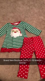 Brand New Boutique Christmas Outfit