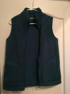 Teal reversible vest with pockets