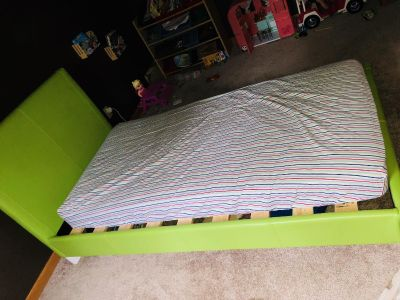 Toddler bed, holds a crib size mattress
