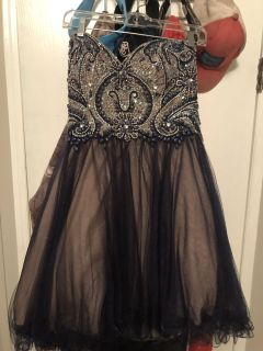 Home coming dress size 8 w/ corset