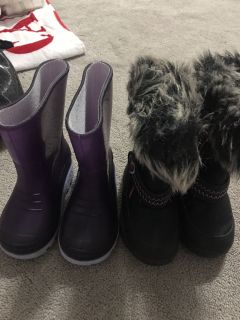 Rain boots, and winter boots