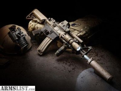 """For Sale: 1 of 5 View Larger Images AR-15 DUTY Rifle, 16"""" Chrome Lined Bbl, KAC Rail"""