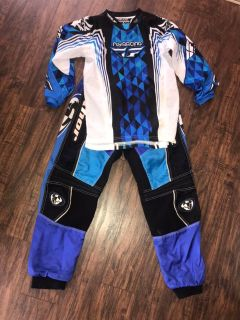 Youth Large Thor and Fly Racing Motocross and Dirt bike top and pants