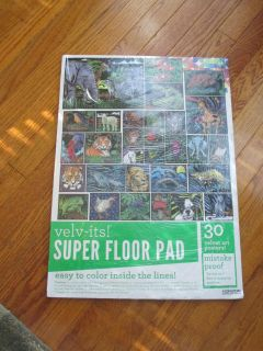 NEW Super Floor Pad - 30 velvet posters to color