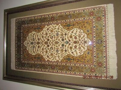 $4,000, Silk Turkish Rug framed