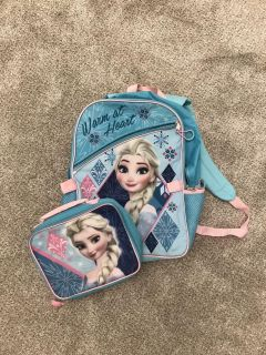 Frozen backpack and lunch box