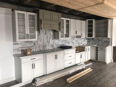 Solid Maple cabinets