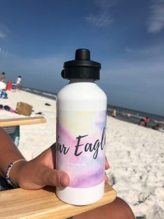 Custom War eagle water color water bottle