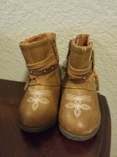 Baby Girl Cowbow Boots Size 3