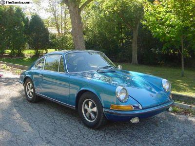 1970 Porsche 911E 2.2 MFI Coupe w/ Factory COA