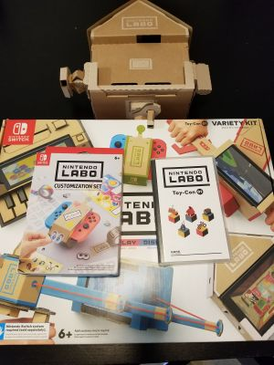 Nintendo switch games and LABO pack 1