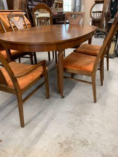 Mid Century Table with 6 Chairs