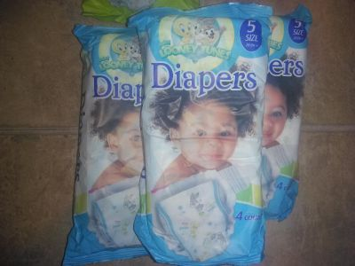 Diapers, 12ct, size 5