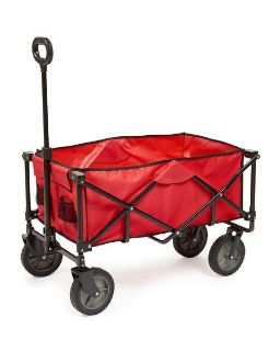 Sport Wagon (Foldable, Red) With Removable Bed