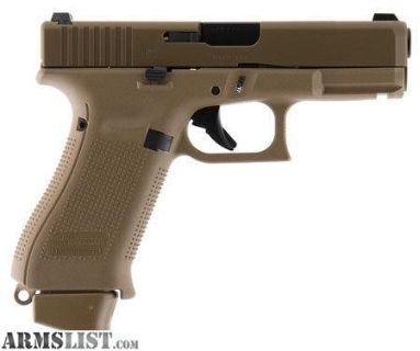 For Sale: GLK Glock 19X 9mm 4 Inch Barrel Glock Night Sights Coyote Tan Finish 19 Round