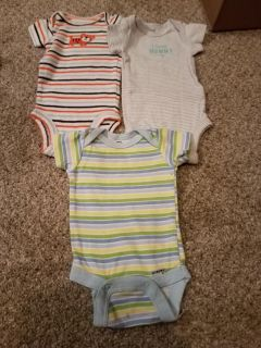 SET OF 3, CARTER ONESIES, EXCELLENT CONDITION, SMOKE FREE HOUSE