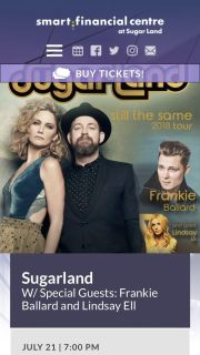 Sugarland - 2 orchestra section tickets
