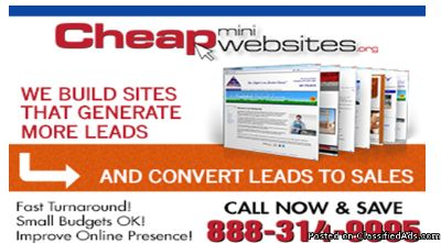 Cheap Mini Websites For Only $399