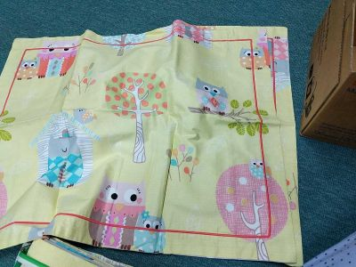 Owl twin duvet cover and 2 pillow shams