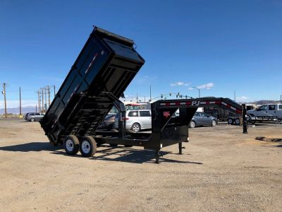 Gooseneck Low Pro High Side Dump (DM), 7x16 Gooseneck Dump Trailer,  PJ Dump Trailer DMG162-4