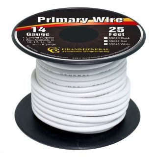 Buy White 14-Gauge Primary Wire Roll of 25Ft motorcycle in Sylmar, California, United States, for US $6.25